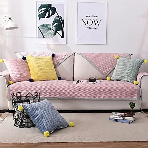 Funda de sofá impermeable para sofá con 3 cojines, protección de muebles, de tela sólida, sin costuras, para animales de compañía, niños, perros, gatos, etc.