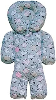 Almofada Protetora Redutor de Bebê Ovelha Cinza com Rosa