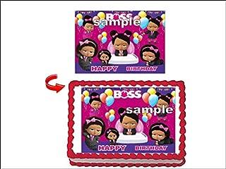 Boss Baby African American Girl Edible Cake Topper Party Edible Cake Image Decoration Sugar Sheet