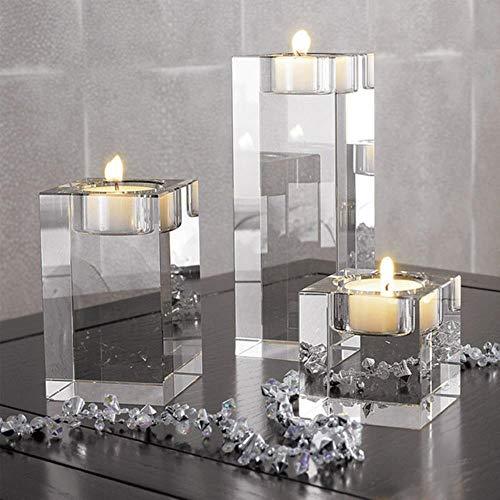 4 size kristallen kandelaars kleine theelichtje kandelaar valentijnsdag kaarslicht eettafel voor thuis bar decoratie, 3 stks