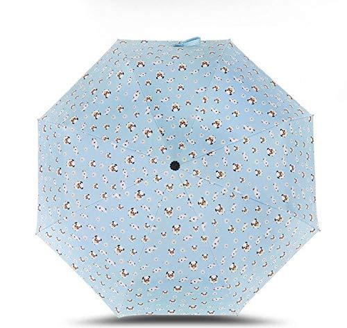 NJSDDB paraplu Yessello gestreepte hond paraplu zak paraplu drie vouwen verse partij streep honden parasol zonnig regenachtige roze paraplu's vrouwen, 2