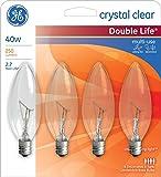 GE PC: 79089 Blunt Tip Candelabra Light Bulb, 4 Count (Pack of 1)