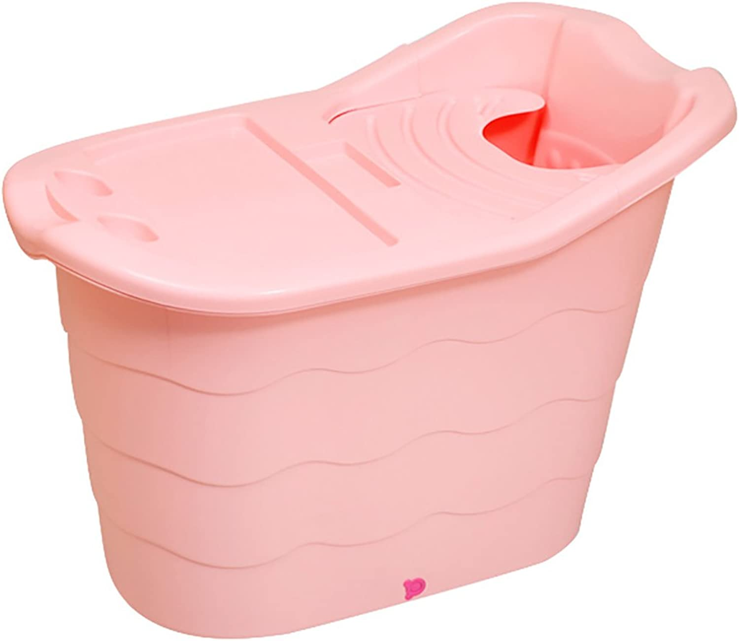 WENJUN Plastic Bath Tub Thicken Plastic Home Bath Tub Bath Tub Bath Tub Adult Bathtub Kids Bathtub Thermal Bathtub (color   PINK, Size   98  59  66 cm)