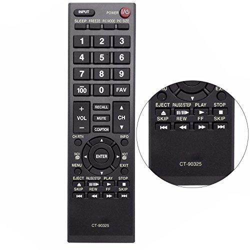 New CT-90325 CT90325 Remote Control Fit for Toshiba TV 32c110u 32c120u 32l1400u 50l1350u 50l5200u 19SL410U 22AV600UZ 24SL410UM 26C10 29L1350U 32E200U 32SL410U 40L5200U1 50L1350 55G310U 65HT2U Florida