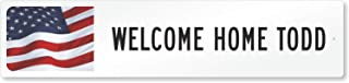 SmartSign LCSS-0004-FL-NA_18x4 Customize Your Own White Street Sign with by   18
