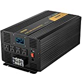 VEVOR Pure Sine Wave Inverter 3500 Watt Power Inverter, DC 12V to AC 120V Car Inverter, with USB Port LCD Display Remote Controller and AC Outlets (GFCI), for RV Truck Car Solar System Travel Camping