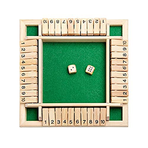 Youning Holzbrettspiel Ein klassisches Familien-Mathematik-Spiel, Holz Tisch Spiel,Würfelspiel Board Spielzeug, Holztischspiel, Würfelbrettspiel, Spielzeug für Kinder, Familie, Party, Geschenk (Grün)