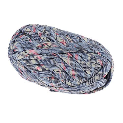 F Fityle Multifarbe Textilgarn 100g, Stoffgarn, Jersey- Garn Polyester für Kleidung, Socken, Hüte, Spielzeug, Teppichen - 51
