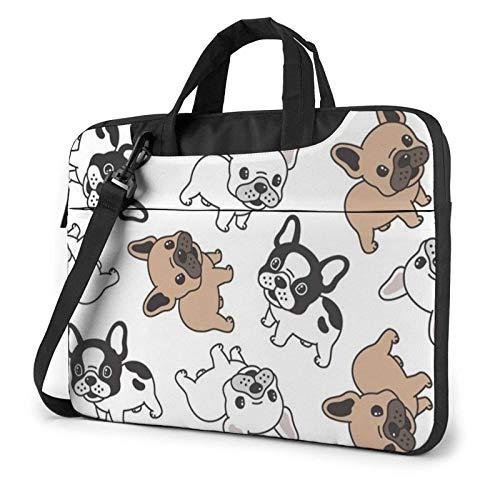 Bulldog Laptop Bag Messenger Bag Maletín Satchel Shoulder Crossbody Sling Bolsa de Trabajo