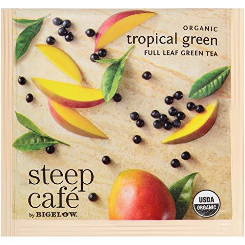 Steep Café Organic Tropical Green Tea Box quality assurance Singl per Many popular brands Bags 50