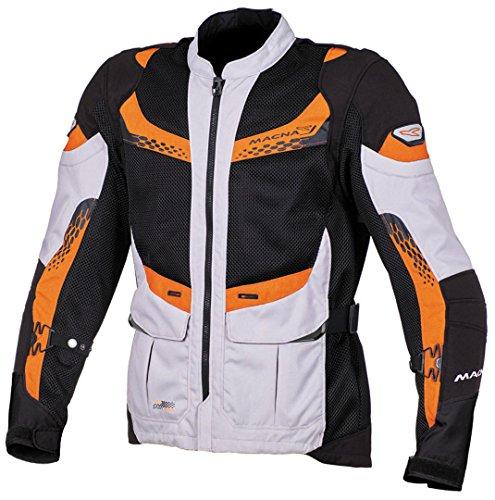 Macna Furio Veste de moto en textile 3XL Gris/orange