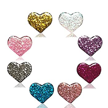 Diamond Painting Cover Minder 8PCS Glitter Heart Magnet Cover Holder for Painting with Diamonds Parchement Paper Cover for Adults Art Craft