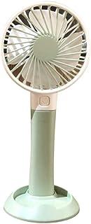 Mogicry Ventilador eléctrico recargable moderno USB Ventilador de mano personal Mini ventilador a batería portátil, Base de soporte para teléfono móvil, 3 velocidades para oficina al aire libre Viajes