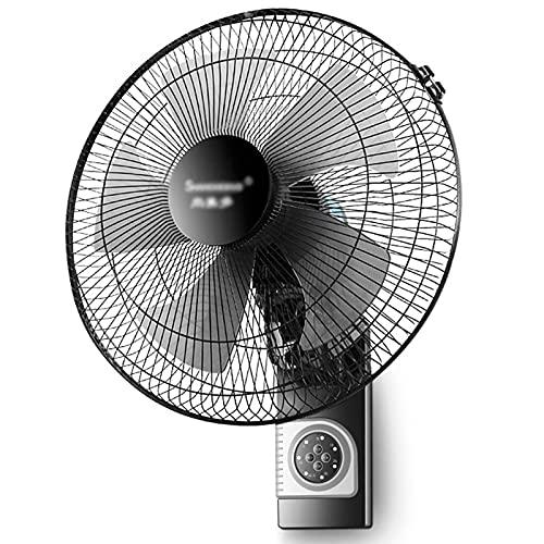 ventilatore Elettrico Ventilador de Montaje en Pared Industrial de Metal para el Hogar Sincronización del Control Remoto Correr Silenciosamente Inclinación Ajustable 3 Configuraciones de Velocidad 16
