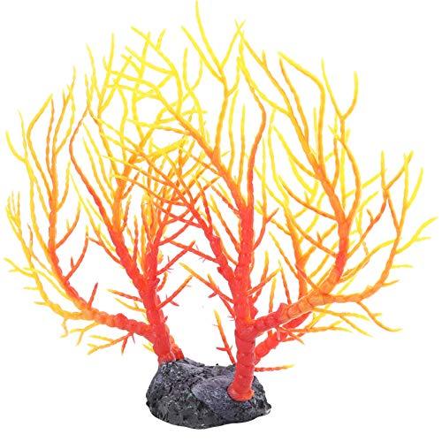 Artificial Coral Árbol, CLORURO DE POLIVINILO 22 X 20 X 5 cm/8.7 X 7.9 X 2 en El plastico Moldura Plantas Pez Decoraciones