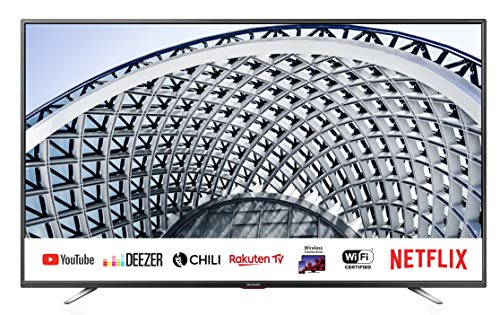 "Sharp aquos smart tv 40"" full hd suono harman kardon sat internet wifi youtube netflix 3xhdmi 2xusb uscita cuffie, scart e audio digitale."