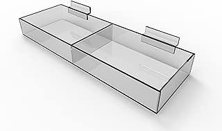 FixtureDisplays Slatwall Clear Acrylic Bin 11709-15C-2PK