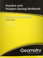 High School Math Common-Core Geometry Practice/Problem Solving Workbook Grade 9/10 0133185966 Book Cover
