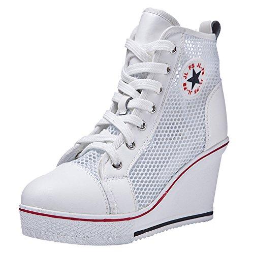 Padgene Zapatillas Moda de Lona Zapatos Altos Tenis Deportivos Casual Calzado Canvas...