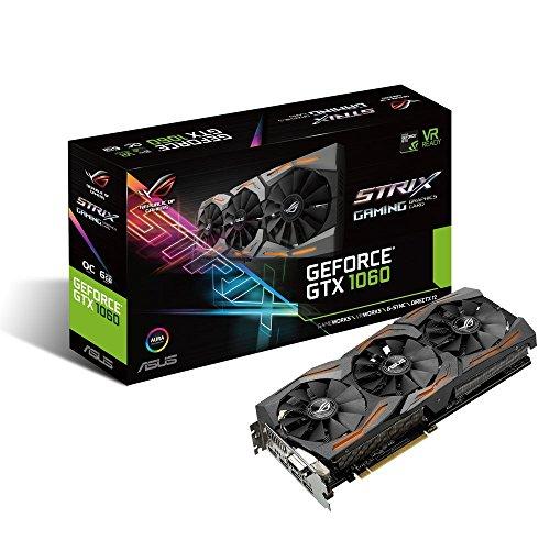 ASUS GeForce GTX 1060 6GB ROG Strix VR Ready HDMI 2.0 DP 1.4 Graphic Card (STRIX-GTX1060-6G-GAMING)