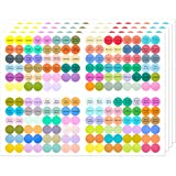 1920 Stickers 10 Sheets Essential Oils Labels Bottle Cap Stickers Lid Stickers for Rollerballs Bottles and Organizing Oils Proof Labels Stickers Waterproof Cap Stickers for Essential Oil Bottle