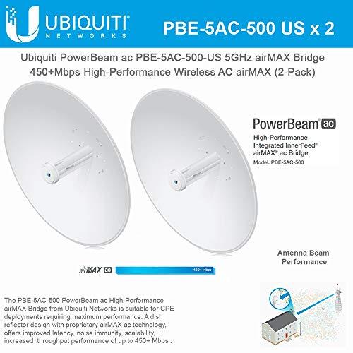 Ubiquiti PowerBeam AC (PBE-5AC-500-US) 25KM 5GHz 27DBi...