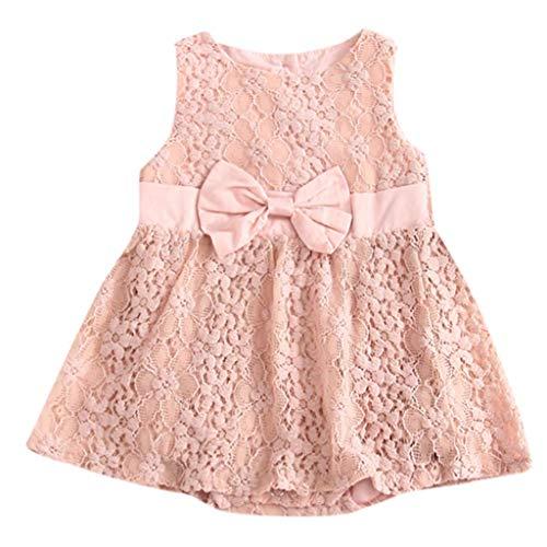 Saoye Fashion Toddler Girl Sleeveless Romper Princess Dress Vêtements D Été De Vêtements de Fiesta Bébé Fille Mode 2019 pour Femmes (Color : Rosa, Size : 3-6 Monate)