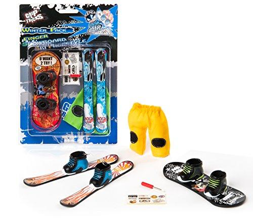 Grip & Tricks - Finger Snowboard Ski Freestyle - Pack1 Winter - Model 1