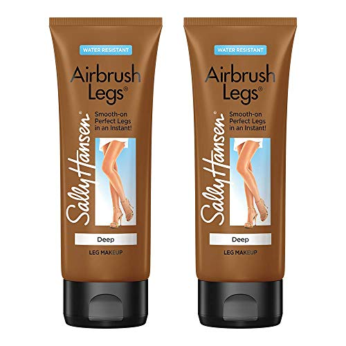 Sally Hansen Airbrush Legs, Leg Makeup Lotion, 4 Oz., Deep, 2 Count