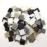 Armena Mosaikstein Mosaikfliesen Glas 2x2cm 250g Weiß-Grau-Schwarz gemischt