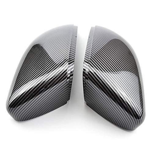 TIANP Cubierta para espejo retrovisor de coche, color negro, para Golf G-Ti 6 2011 2012