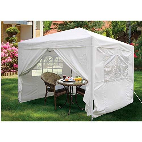 3x3m Pop up Gazebo Tent Canopy Marquee With 4 Side Walls Panels Windows Shelter Waterproof Outdoor Wedding Garden Party BBQ