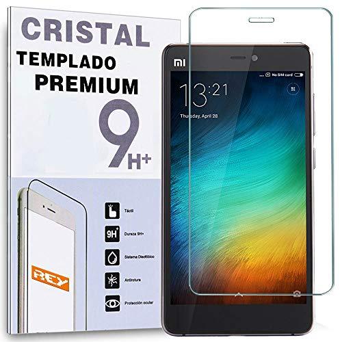REY Protector de Pantalla para XIAOMI Mi4S Cristal Vidrio Templado Premium