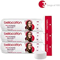 3-Packs x 100 Count Bellacotton Premium Cotton Rounds