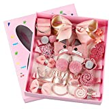 Girls Hair Accessories Gift Set, HQCM 18 Pieces Children Hair Clips Set for Christmas Birthday Gift, with Hairpins Ropes Bows Ties Barrettes Head Ornaments Silk Ribbon