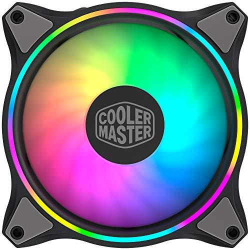 Cooler Master MasterFan MF120 Halo ARGB - Illuminazione RGB Indirizzabili a Doppio Anello, Case ed Eliche Dal Design Ibrido, Protezione Sensore Inceppo e Telaio per Riduzione Vibrazioni - 120mm
