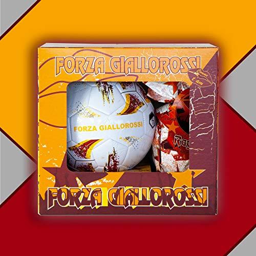 Pallone da Calcio con Uova di Pasqua da 150gr. Forza GIALLOROSSI