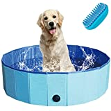 TKLake Paddling Pool for Pets & Kids, Portable Foldable Outdoor/Indoor Swimming Bath Paddling Pool Bathing Tub perfect for Pet Children (L - 120 * 30CM)