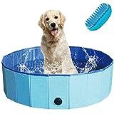 TKLake Paddling Pool for Pets & Kids, Portable Foldable Outdoor/Indoor Swimming Bath Paddling Pool...