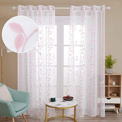 cortinas translucidas salon modernas 2 piezas