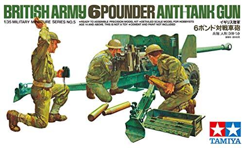 タミヤ 1/35 ミリタリーミニチュアシリーズ No.05 イギリス陸軍 6ポンド 対戦車砲 35005