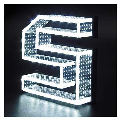 Letras iluminadas de 15x20cm con 3cm grosor de Metacrilato Efecto Lunares con Luz Frontal y Lateral (ZC0029Y). Personalizado (ZC0029Y)