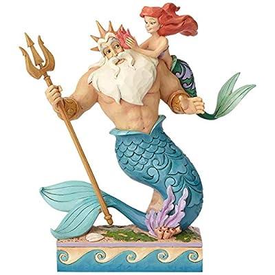 Enesco Disney Traditions by Jim Shore Little Mermaid Ariel and Triton Figurine, 9.7 Inch, Multicolor