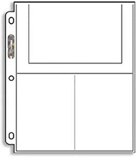 Ultra-Pro 3-Pocket Pages (4X6) - 25 PAGES - PHOTO or Postcard