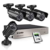 ZOSI 8CH Security Camera System HD-TVI Full 1080P Video DVR Recorder with 4X HD...
