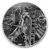 Impresionantes pegatinas de vinilo (juego de 2) 25 cm bw – Bogotá Colombia City Cityscape Fun Decals para portátiles, tabletas, equipaje, reserva de chatarras, frigoríficos, regalo fresco #42610