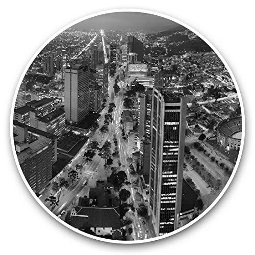 Impresionantes pegatinas de vinilo (juego de 2) 30 cm BW – Bogotá Colombia City Cityscape Fun Decals para portátiles, tabletas, equipaje, reserva de chatarras, frigoríficos, regalo fresco #42610