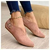 SHENGYAO Low Heel Flat Slip On Loafers Casual...