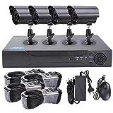 Camara De Vigilancia WiFi Kit De Cámara De Vigilancia CCTV Ahd Dvr HD De CCTV 4 / 8Ch-4 Canales 1 Millón De Juego Alto