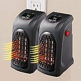JINGBO 2 pz Mini Portátil Handy Heater 350W Bajo Consumo Estufa Eléctrica Calefactor, Fast Heater Visto en TV Calefactor Cerámico Temperatura Regulable Baño Casa Oficina Enchufe UE